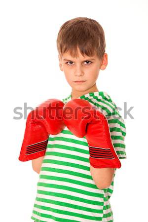 Angry boy pugilist Stock photo © bloodua