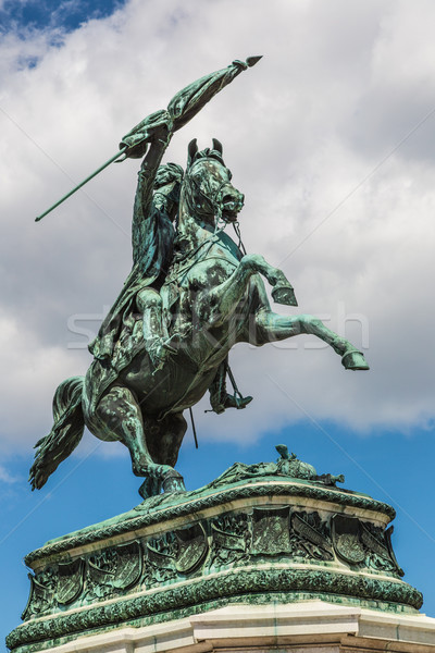 horse and rider statue of archduke Karl in vienna at the Heldenp Stock photo © bloodua