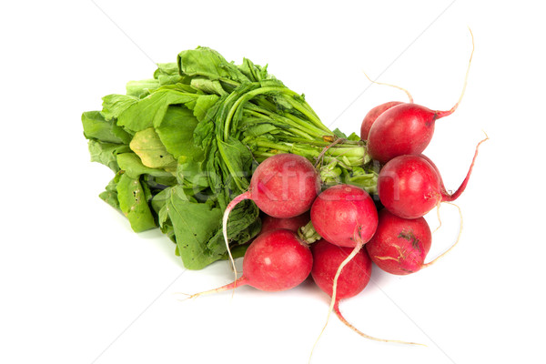 A bunch of fresh radishes isolated on white Stock photo © bloodua