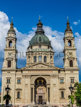 St. Stephen's Basilica, the largest church in Budapest, Hungary Stock photo © bloodua