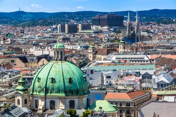 Панорама Вена собора мнение город крыши Сток-фото © bloodua