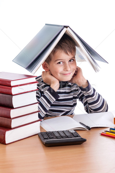 Cute schoolboy Stock photo © bloodua