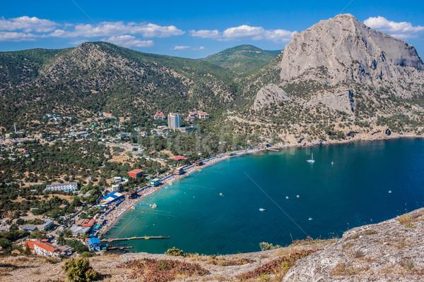 Summer view seacoast. Sudak beach. Black Sea, Ukraine Stock photo © bloodua