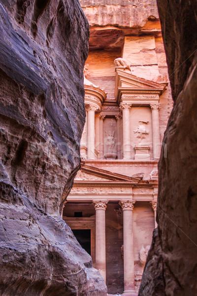 Tesoreria Giordania antica città giorno montagna Foto d'archivio © bloodua