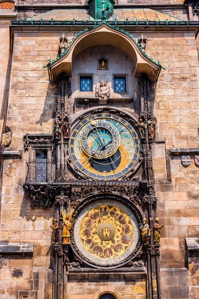 Astronômico relógio Praga República Checa cidade europa Foto stock © bloodua