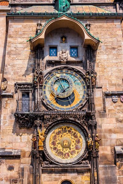 Sterrenkundig klok Praag Tsjechische Republiek stad Europa Stockfoto © bloodua