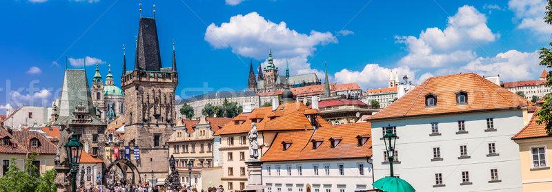 Stock photo: Karlov or charles bridge in Prague in summer