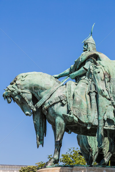 Hungary, Budapest Heroes' Square in the summer on a sunny day Stock photo © bloodua