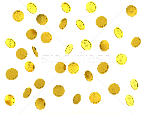 3d rendered failing golden coins Stock photo © blotty