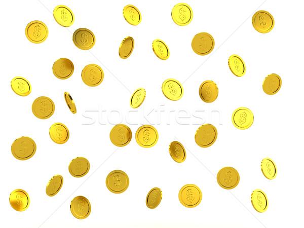 3d rendered failing golden coins Stock photo © blotty