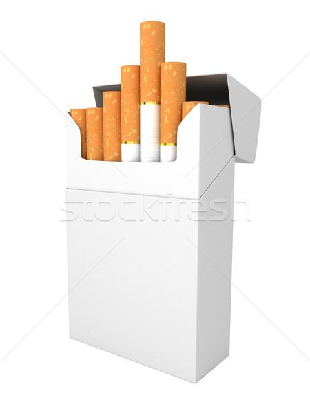 Open completo pack sigarette isolato sfondo Foto d'archivio © blotty