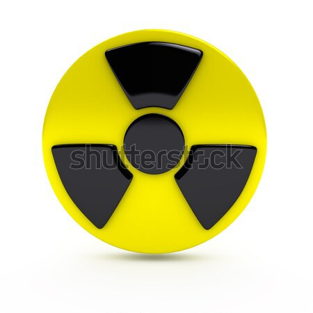Radiation sign over white background Stock photo © blotty