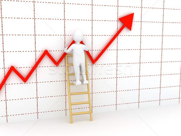 Stock fotó: 3D · absztrakt · diagram · cég · bemutató · terv