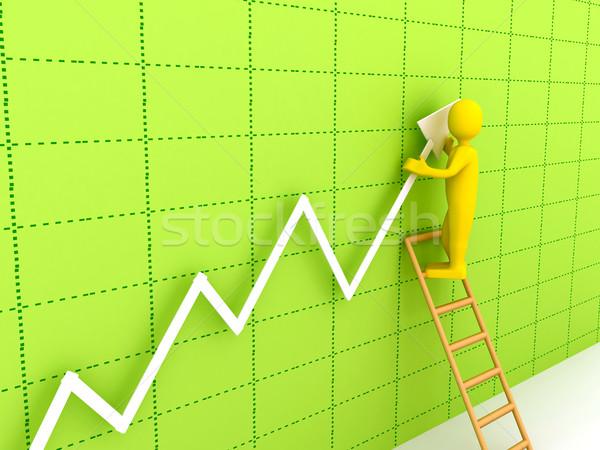 3D streszczenie wykres firmy prezentacji budowy Zdjęcia stock © blotty