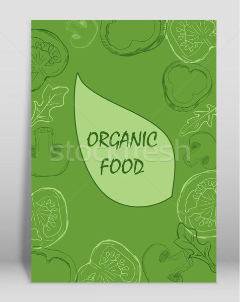 自然食品 パンフレット デザイン 自然 芸術 夏 ストックフォト © blotty