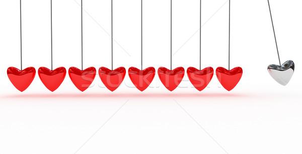 Piros szív terv keret művészet űr Stock fotó © blotty