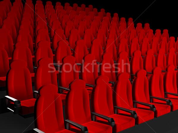 фильма театра 3D оказанный изображение пространстве Сток-фото © blotty
