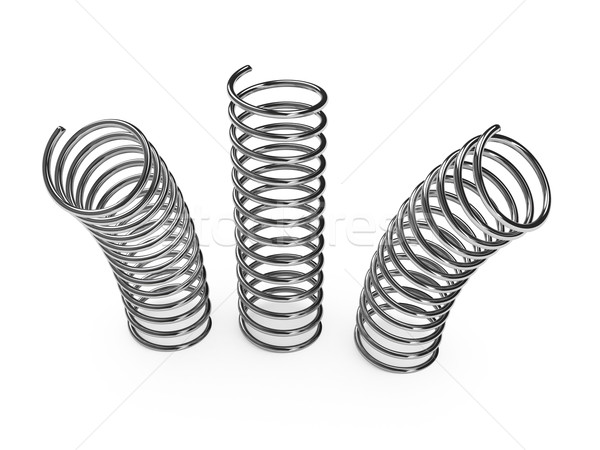 Chrome Metal Spring Over White Background on Google Chrome Download