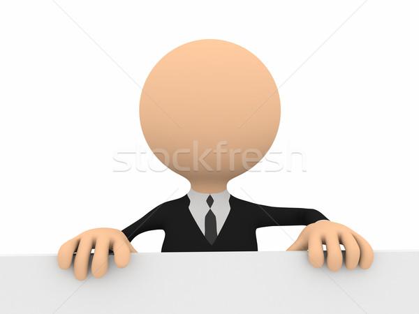 3 ª persona banner ordenador generado imagen oficina Foto stock © blotty