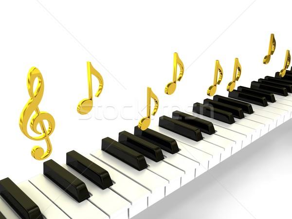 Сток-фото: фортепиано · 3D · оказанный · изображение · аннотация · фон