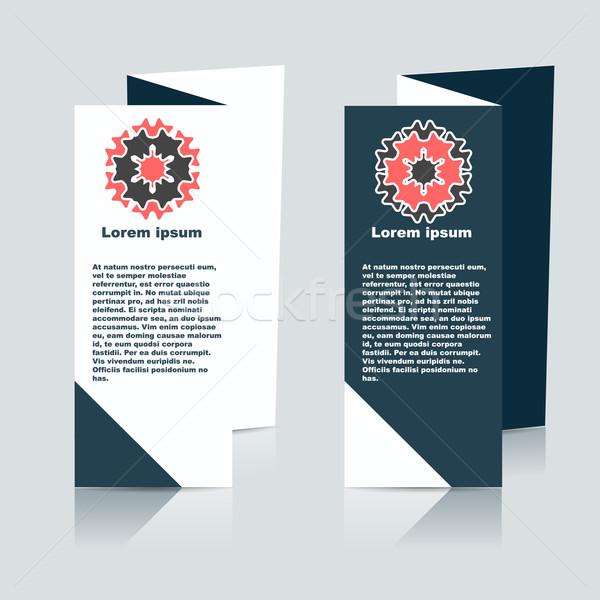 Vecteur brochure layout modèle de conception eps10 illustration Photo stock © blotty