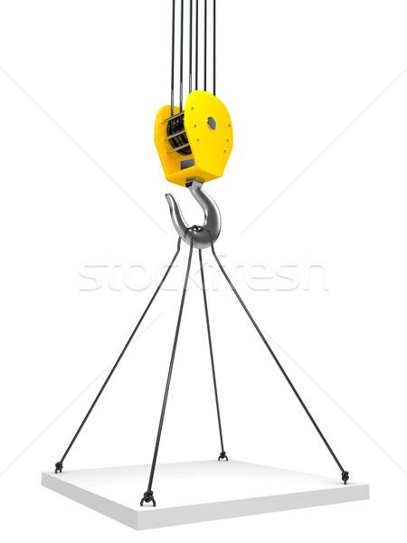 Сток-фото: промышленных · крюк · подвесной · цепь · 3d · визуализации · строительство