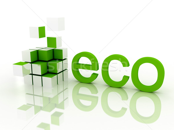экологический 3d визуализации дизайна пространстве зеленый жизни Сток-фото © blotty