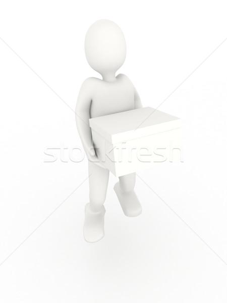 3d persoon vak witte 3d render papier verjaardag Stockfoto © blotty