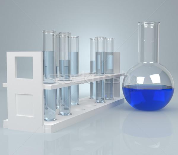 Azul líquido computador gerado água tecnologia Foto stock © blotty