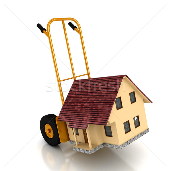 Stock photo: house on sale over white backgound