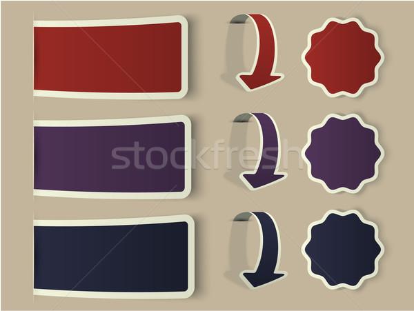 カラフル ウェブ ステッカー ラベル 実例 ストックフォト © blotty