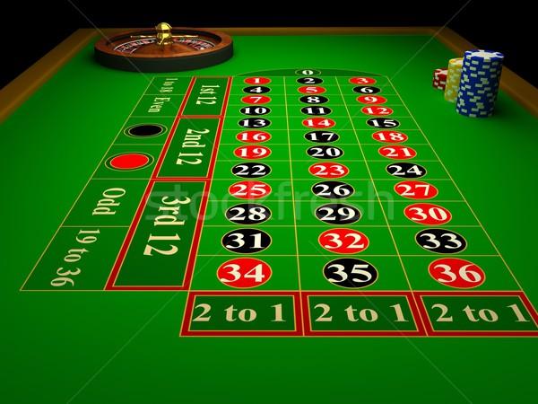 Casino roulette 3D reso immagine tavola Foto d'archivio © blotty