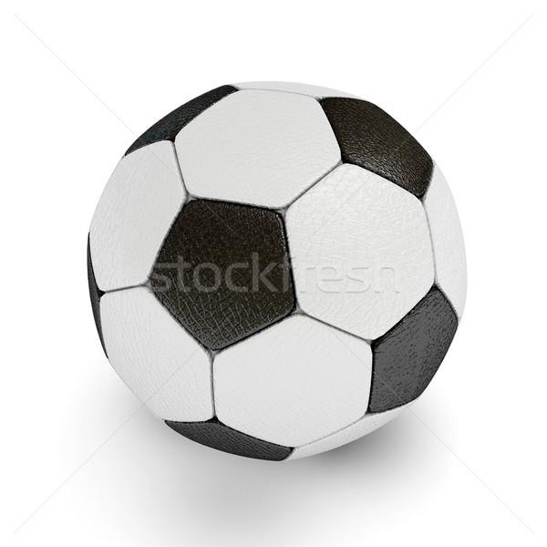 Labda 3D renderelt kép fű futball Stock fotó © blotty