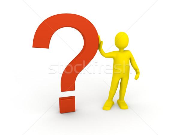 ストックフォト: 3dの人 · 質問 · にログイン · 3dのレンダリング · ビジネス · 教育