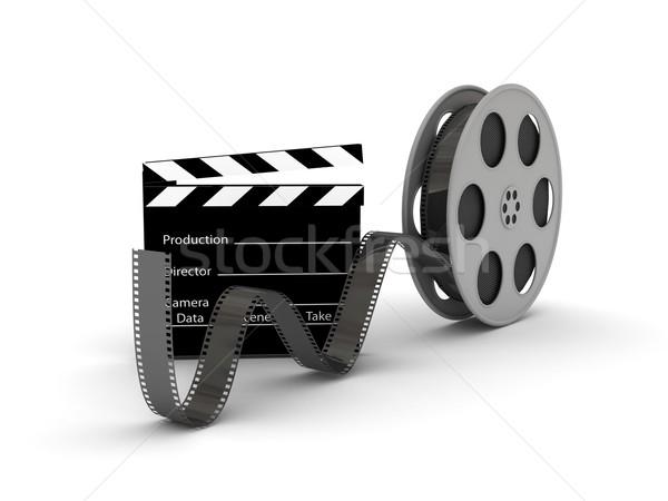 Film Slate with Movie Film Reel Stock photo © blotty