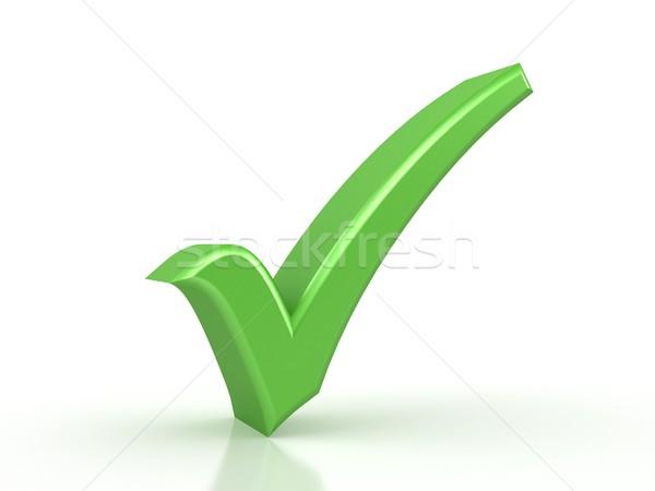green checkmark on white background Stock photo © blotty