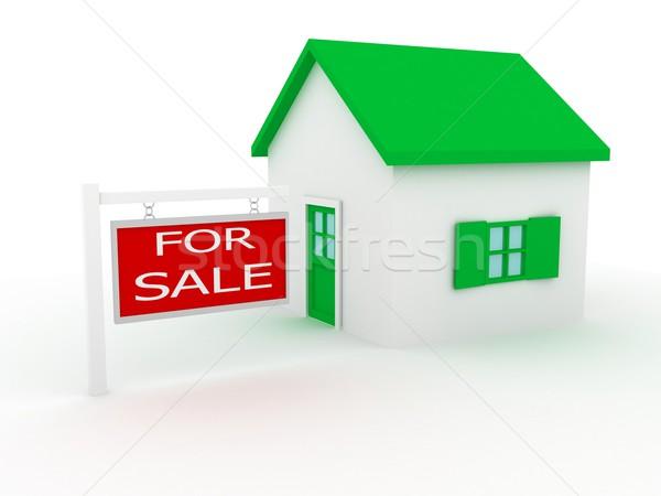 Grupo casas venta 3d construcción modelo Foto stock © blotty