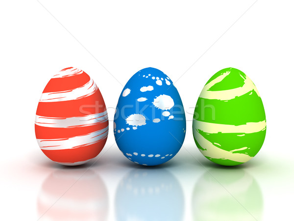 Easter Eggs on white - Stock image Stock photo © blotty