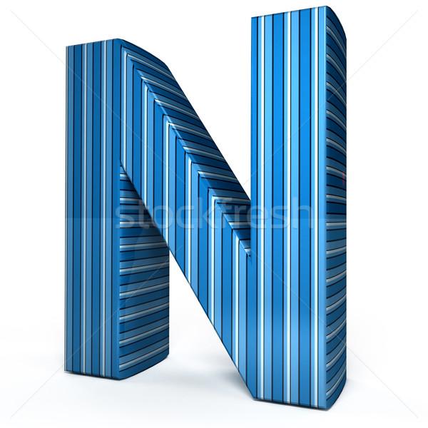Blue letter over white background Stock photo © blotty