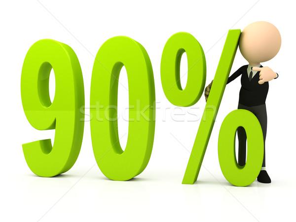 Percent symbol on white background Stock photo © blotty