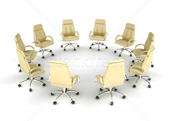 ストックフォト: ビジネス · 金融 · 会議 · 3dのレンダリング · 背景 · 作業
