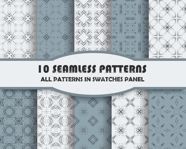 ベクトル セット 幾何学的な デザイン eps ストックフォト © blotty