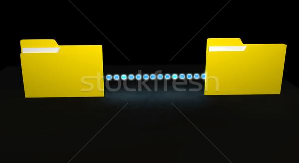 Datos transferir 3d ordenador portátil tecnología Foto stock © blotty