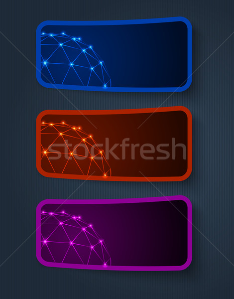 vector sticker banners, grouped, easy to modify Stock photo © blotty
