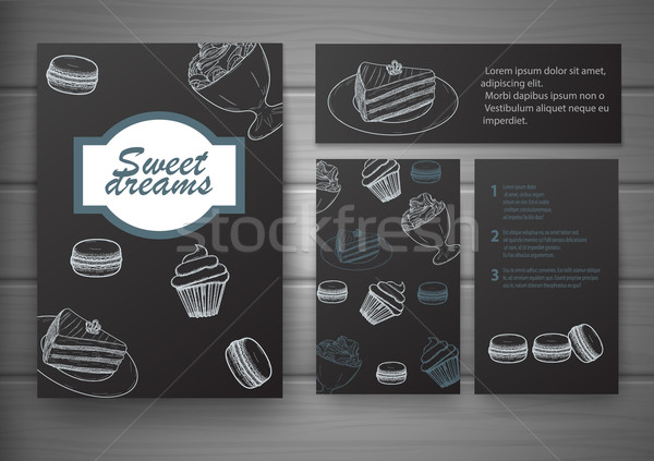 Stock photo: Handdrawn menu for cafe, coffee house