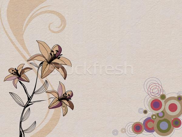 抽象的な デザイン 花 光 背景 絵画 ストックフォト © blotty
