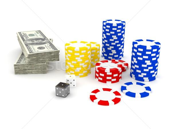 カジノ チップ 3D レンダリング 画像 表 ストックフォト © blotty