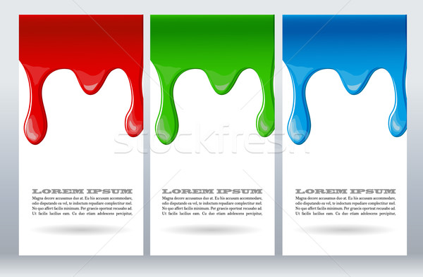 Paint dripping on white card Stock photo © blotty