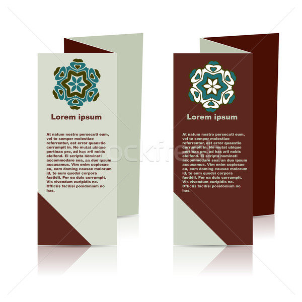ベクトル パンフレット レイアウト デザインテンプレート eps10 実例 ストックフォト © blotty