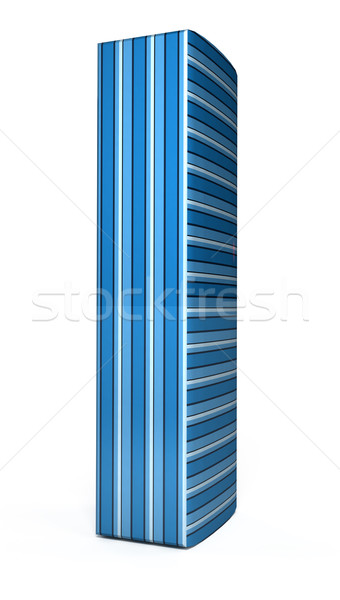 青 手紙 白 3D レンダリング 画像 ストックフォト © blotty